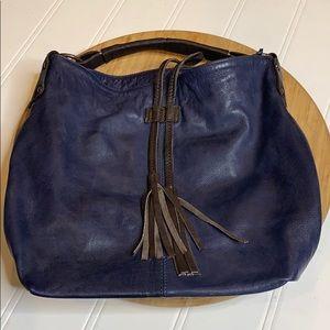 Anthropologie TANO Blue shoulder bucket Bag in EUC